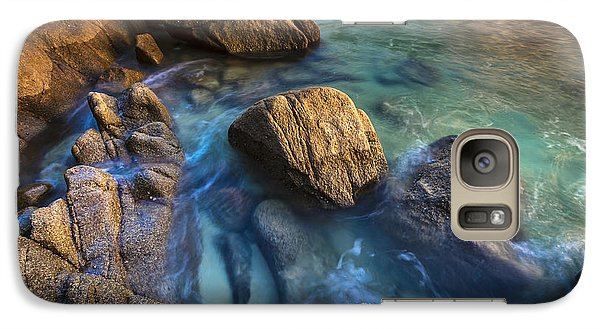 Galaxy Case featuring the photograph Chanteiro Beach Galicia Spain by Pablo Avanzini