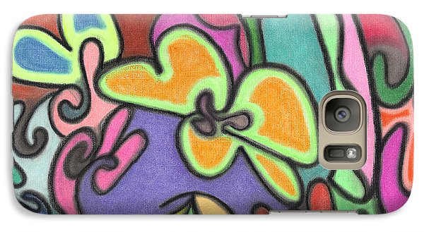 Galaxy Case featuring the pastel Fluid Flowers by Christine Perry