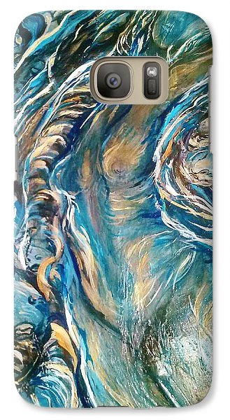 Galaxy Case featuring the painting Following Air by Dawn Fisher