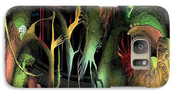 Galaxy Case featuring the digital art Funhouse by David Klaboe