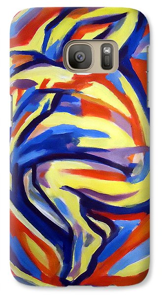 Galaxy Case featuring the painting Here by Helena Wierzbicki