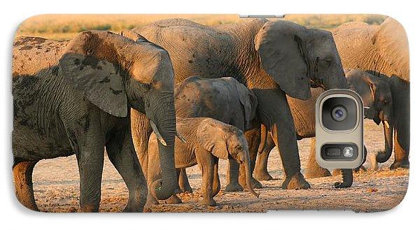 Galaxy Case featuring the photograph Kalahari Elephants by Amanda Stadther