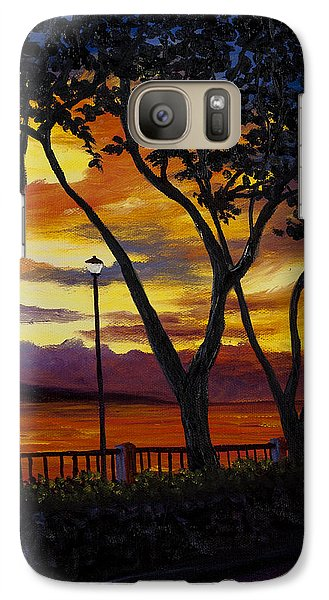 Galaxy Case featuring the painting Lahaina Sunset by Darice Machel McGuire