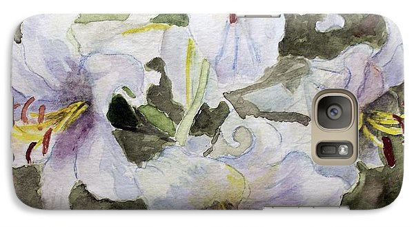 Galaxy Case featuring the painting 4 Lilys Of White by Carol Grimes