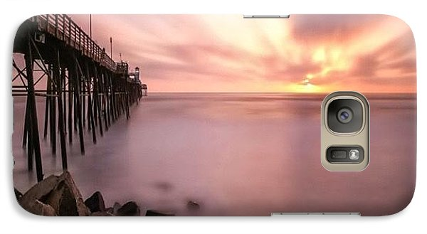 Galaxy S7 Case - Long Exposure Sunset At The Oceanside by Larry Marshall