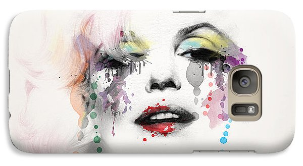 Marilyn Monroe Galaxy S7 Case by Mark Ashkenazi