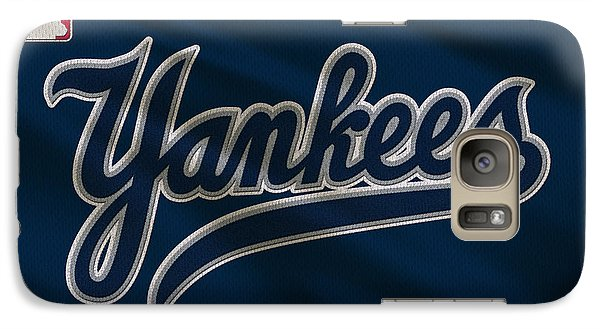 New York Yankees Uniform Galaxy Case by Joe Hamilton