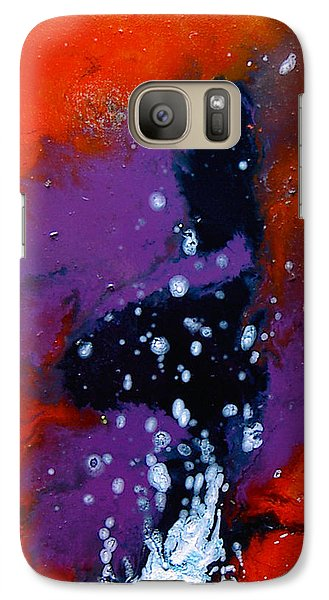 Galaxy Case featuring the painting No Tittle by Min Zou
