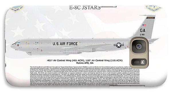 Galaxy Case featuring the digital art Northrop Grumman E-8c Jstars by Arthur Eggers