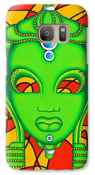 Galaxy Case featuring the painting Nubian Modern Mask by Joseph Sonday
