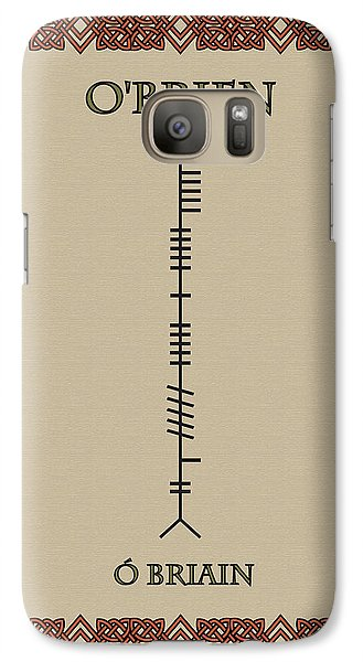 Galaxy Case featuring the digital art O'brien Written In Ogham by Ireland Calling