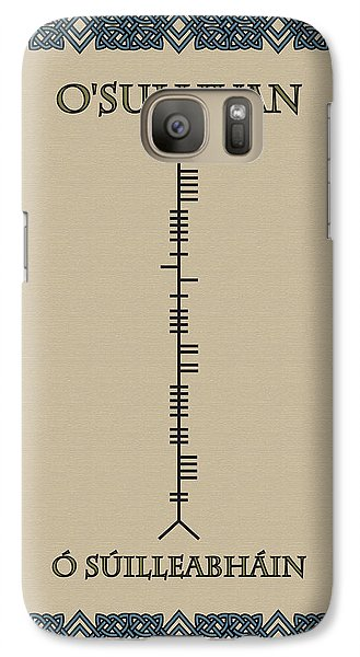 Galaxy Case featuring the digital art O'sullivan Written In Ogham by Ireland Calling