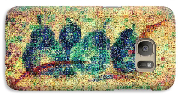 Galaxy Case featuring the painting 4 Pears Mosaic by Paula Ayers