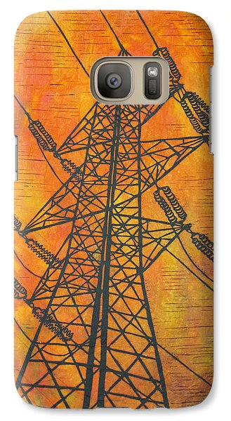 Galaxy Case featuring the drawing Power by William Cauthern