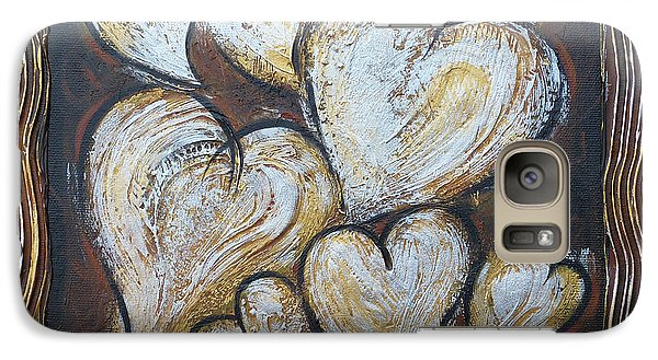 Galaxy Case featuring the painting Precious Hearts 301110 by Selena Boron