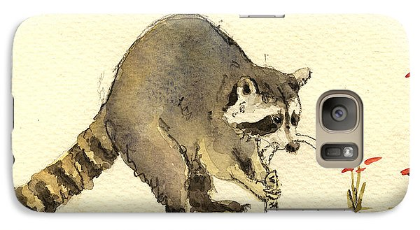 Raccoon  Galaxy Case by Juan  Bosco