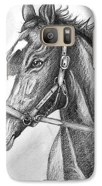 Galaxy Case featuring the drawing Rachel Alexandra by Patrice Torrillo
