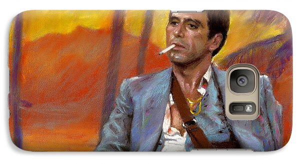 Galaxy Case featuring the drawing Scarface by Viola El