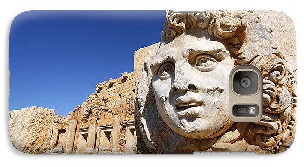 Sculpted Medusa Head At The Forum Of Severus At Leptis Magna In Libya Galaxy S7 Case by Robert Preston
