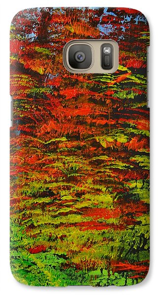 Galaxy Case featuring the painting 4 Seasons Fall by P Dwain Morris
