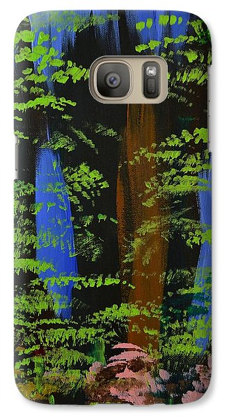 Galaxy Case featuring the painting 4 Seasons Spring by P Dwain Morris