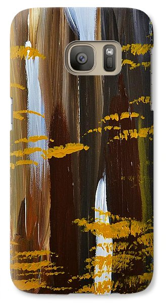 Galaxy Case featuring the painting 4 Seasons Winter by P Dwain Morris
