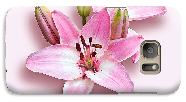 Galaxy Case featuring the photograph Spray Of Pink Lilies by Jane McIlroy