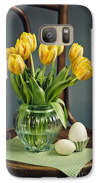 Tulip Galaxy S7 Case - Still Life With Yellow Tulips by Nailia Schwarz