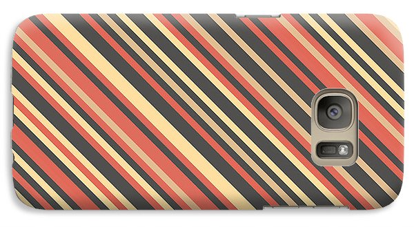 Striped Pattern Galaxy S7 Case by Mike Taylor