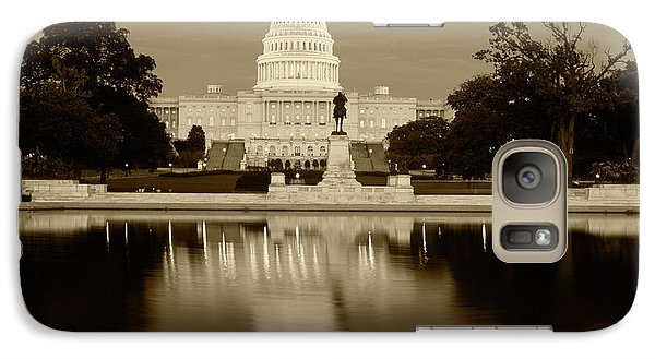 Capitol Building Galaxy S7 Case - Usa, Washington Dc, Capitol Building by Walter Bibikow