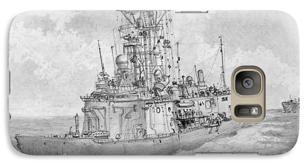 Galaxy Case featuring the drawing Usn Guided Missile Frigate by Jim Hubbard