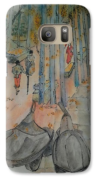 Galaxy Case featuring the painting Van Gogh My Way Album by Debbi Saccomanno Chan