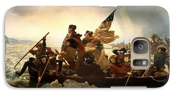 Galaxy Case featuring the photograph Washington Crossing The Delaware by Emanuel Leutze