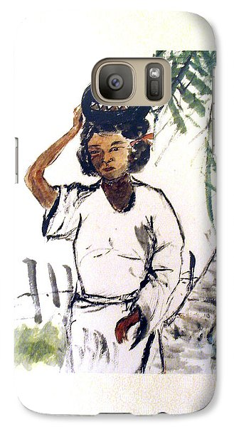 Galaxy Case featuring the painting Water Carrier by Fereshteh Stoecklein
