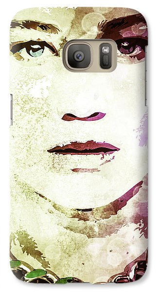 Galaxy Case featuring the digital art Jennifer Lawrence by Svelby Art