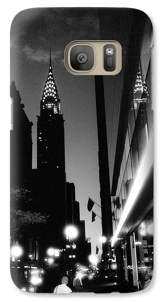 Galaxy Case featuring the photograph 42nd-street-dawn by Dave Beckerman
