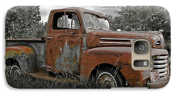 Galaxy Case featuring the photograph '49 Ford Pick-up by Christopher McKenzie