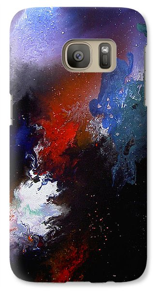 Galaxy Case featuring the painting Abstract by Min Zou