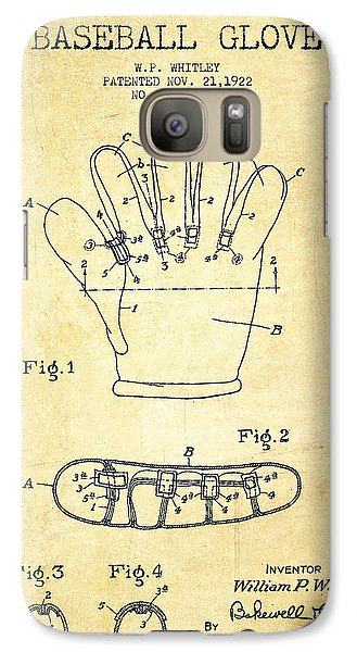 Baseball Glove Patent Drawing From 1922 Galaxy S7 Case