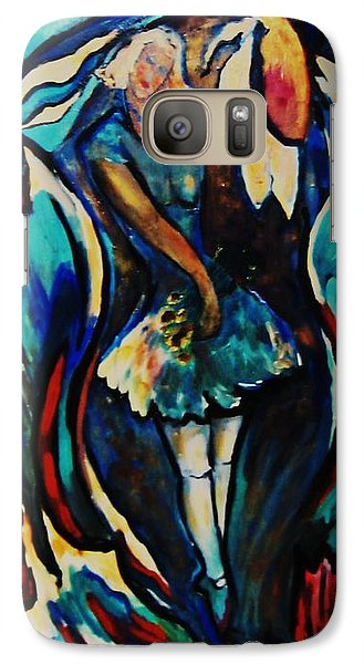 Galaxy Case featuring the painting Bloomed by Dawn Fisher