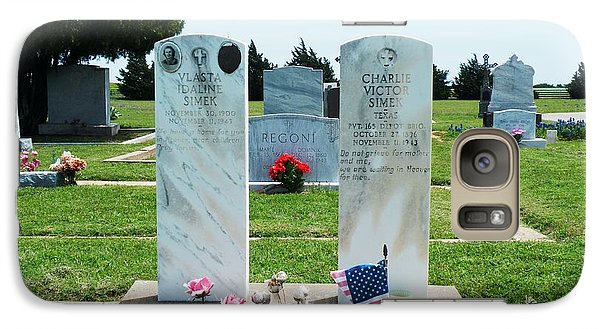 Galaxy Case featuring the photograph Bomarton Catholic Cemetery 5 by The GYPSY And DEBBIE
