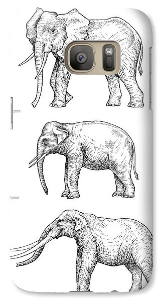 Elephant Evolution, Artwork Galaxy S7 Case by Gary Hincks