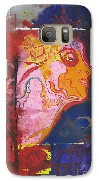 Galaxy Case featuring the painting Imagine by Diana Bursztein