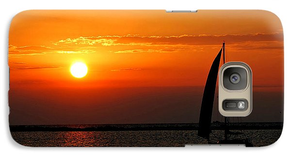 Galaxy Case featuring the photograph Lake Erie Sunset  by Lila Fisher-Wenzel