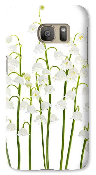 Lily Galaxy S7 Case - Lily-of-the-valley Flowers  by Elena Elisseeva