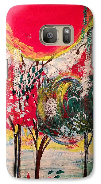 Galaxy Case featuring the painting 5 Panell- Dance Of Love by Sima Amid Wewetzer