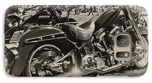 Galaxy Case featuring the photograph Red Harley by Wilma  Birdwell