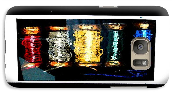 Galaxy Case featuring the drawing 5 Spools by Joseph Hawkins