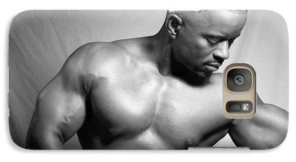 Galaxy Case featuring the photograph The Bodybuilder by Jake Hartz