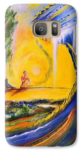 Galaxy Case featuring the painting The Island Of Man by Kicking Bear  Productions